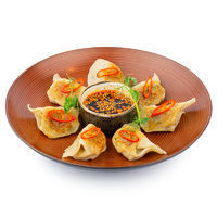 Japanese Gyoza dumplings with tiger prawns