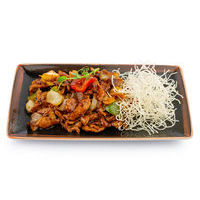 Pork in black bean sauce