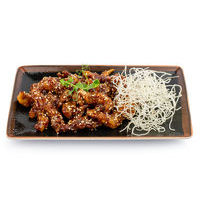 Crispy beef with black bean and honey sauce
