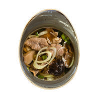 Duck soup with Shiitake mushrooms